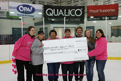 2015 Pink Ring Committee - Ringette vs breast cancer event