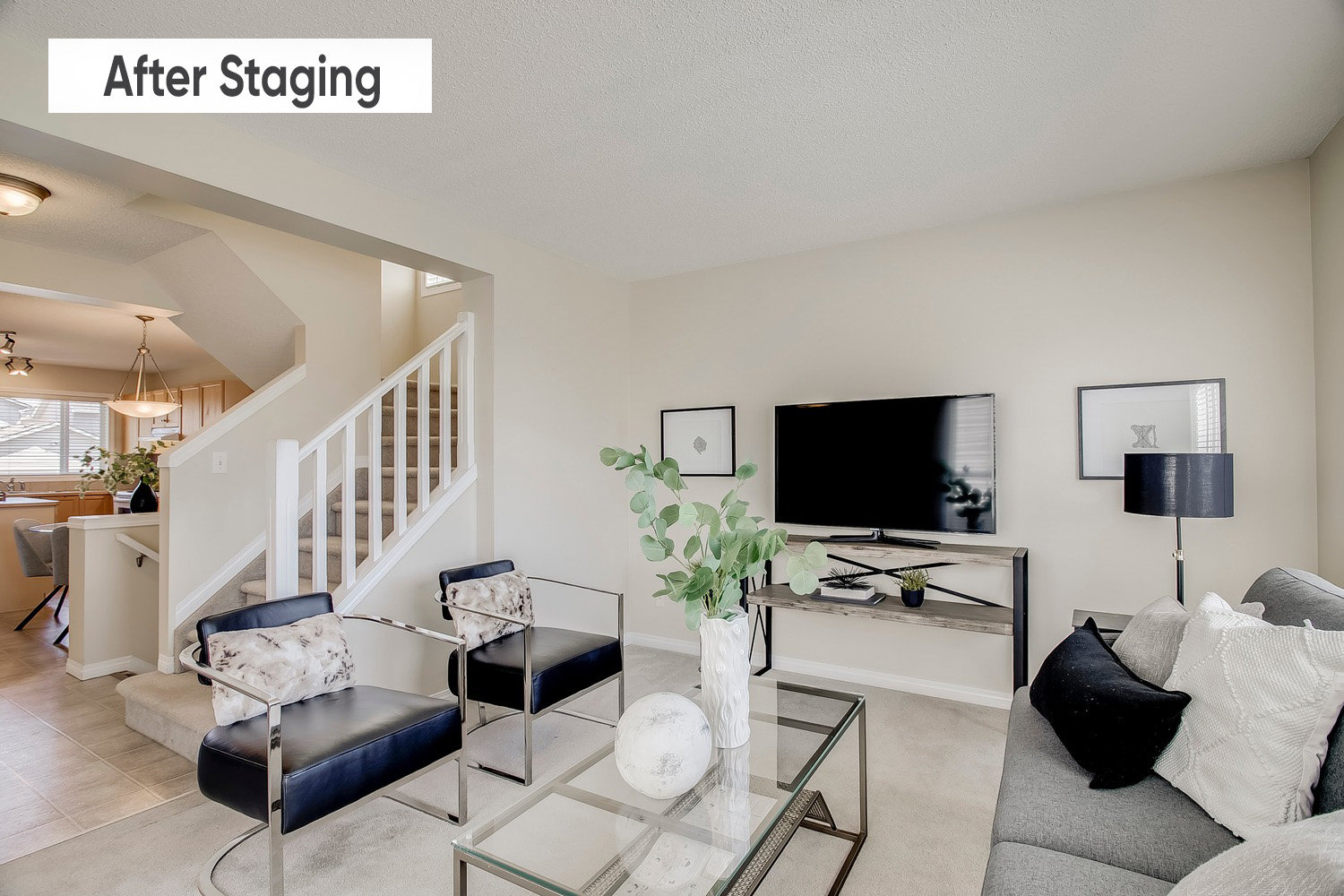 After staging a home.