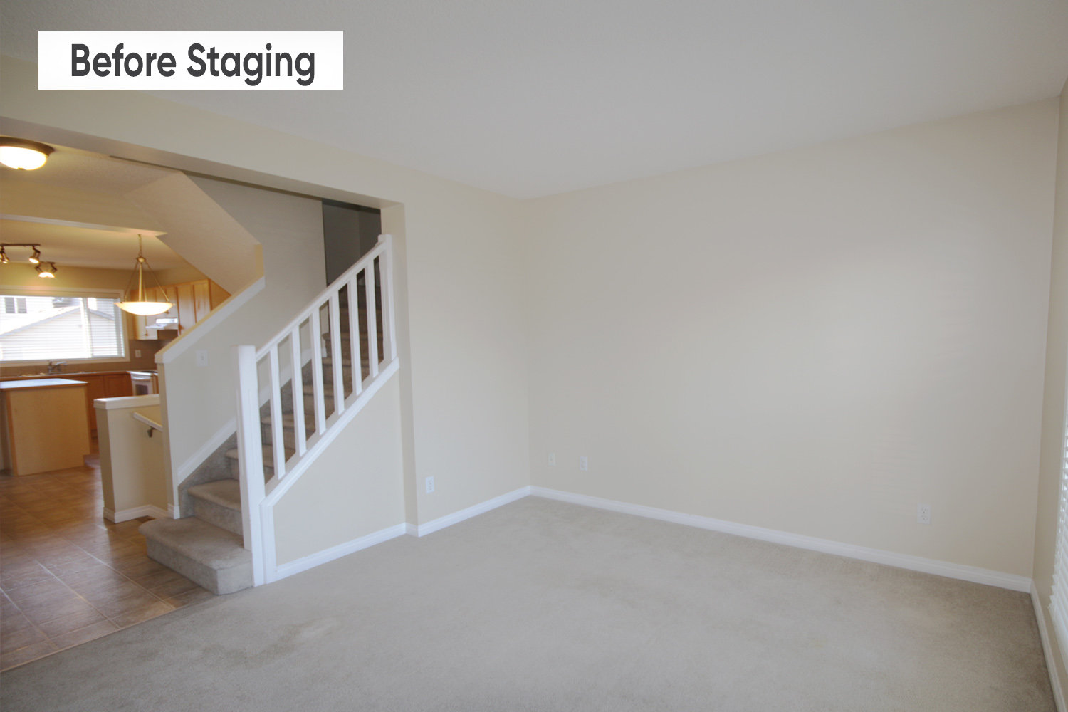 Before staging a home.