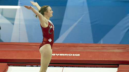 Rosie MacLennan of Canada wins Gold at London Games